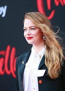 Emma Stone with longer hair