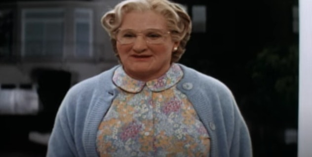 """The late Robin Williams stars in the comedy, """"Mrs. Doubtfire."""""""