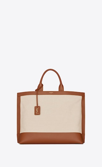 Shopping Tag In Canvas And Leather