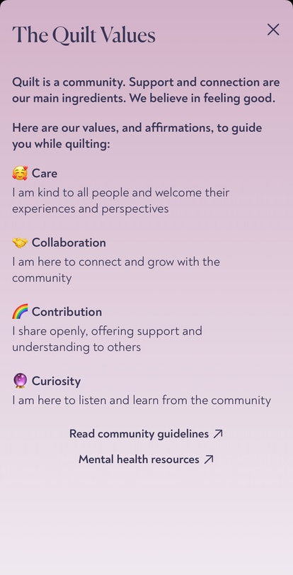 How to join the community on Quilt app.