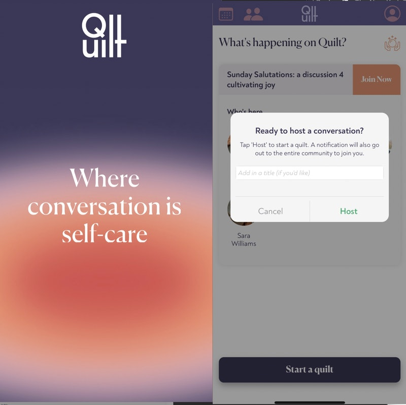 How to use the Quilt app audio platform and make friends.