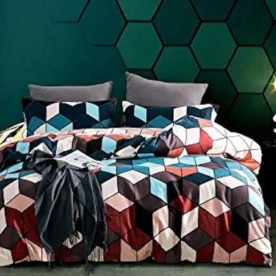 JOHNPEY Geometric Duvet Cover