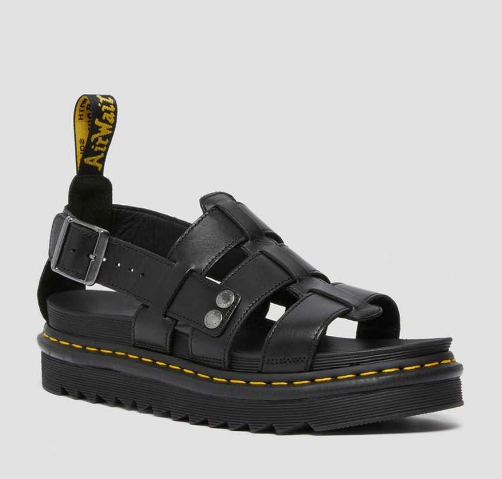 Terry Leather Strap Sandals