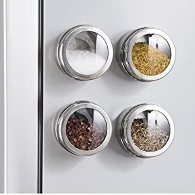 SZILBZ Magnetic Spice Jars (12-Pack)