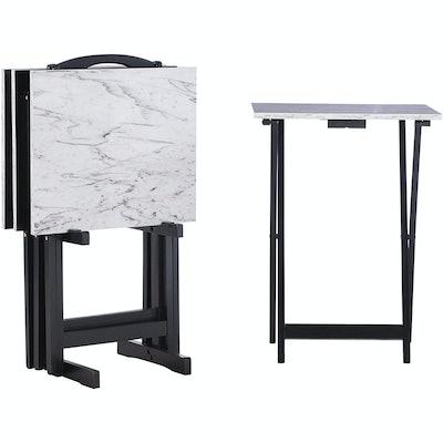 Linon Tray Table Set