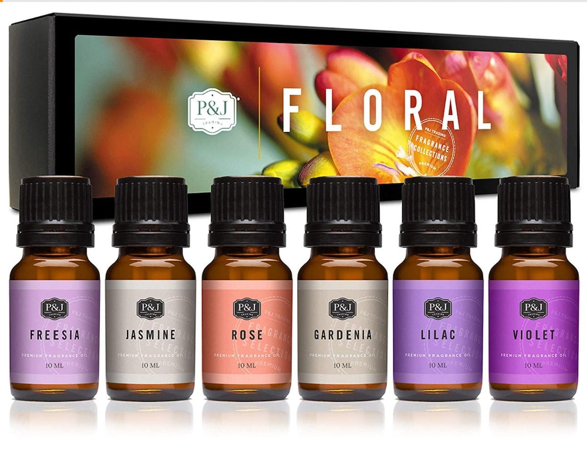 P&J Trading Floral Fragrance Oils, 10ml (Set of 6)