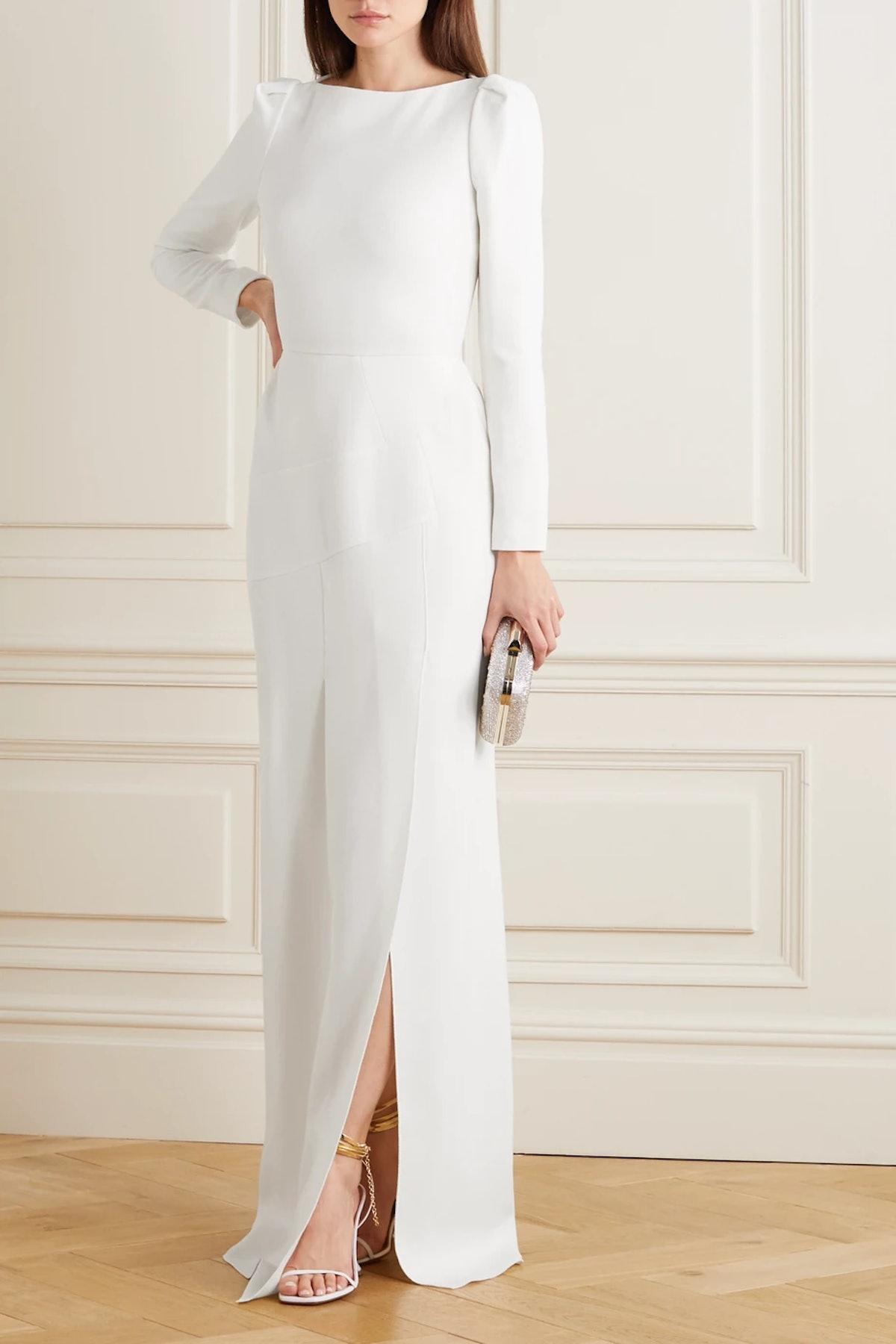 Ella Wool-Crepe Gown