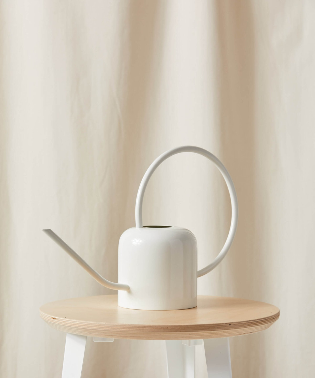White Stainless Steel Watering Can
