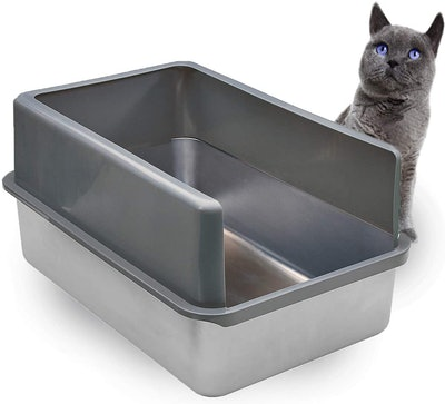iPrimio Enclosed Stainless Steel XL Litter Box