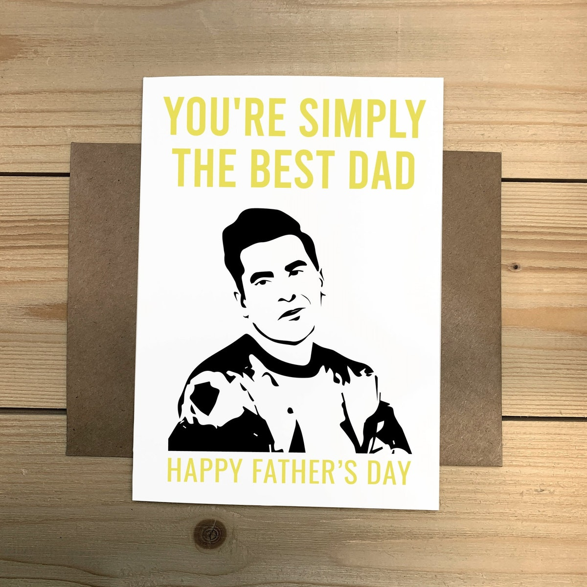 """Schitt's Creek David Father's Day Card - """"You're Simply the Best Dad. Happy Father's Day"""" Greeting Card"""