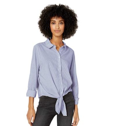 Goodthreads Poplin Tie-Front Shirt