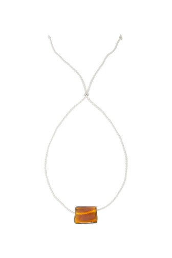 Yellow Cube Necklace