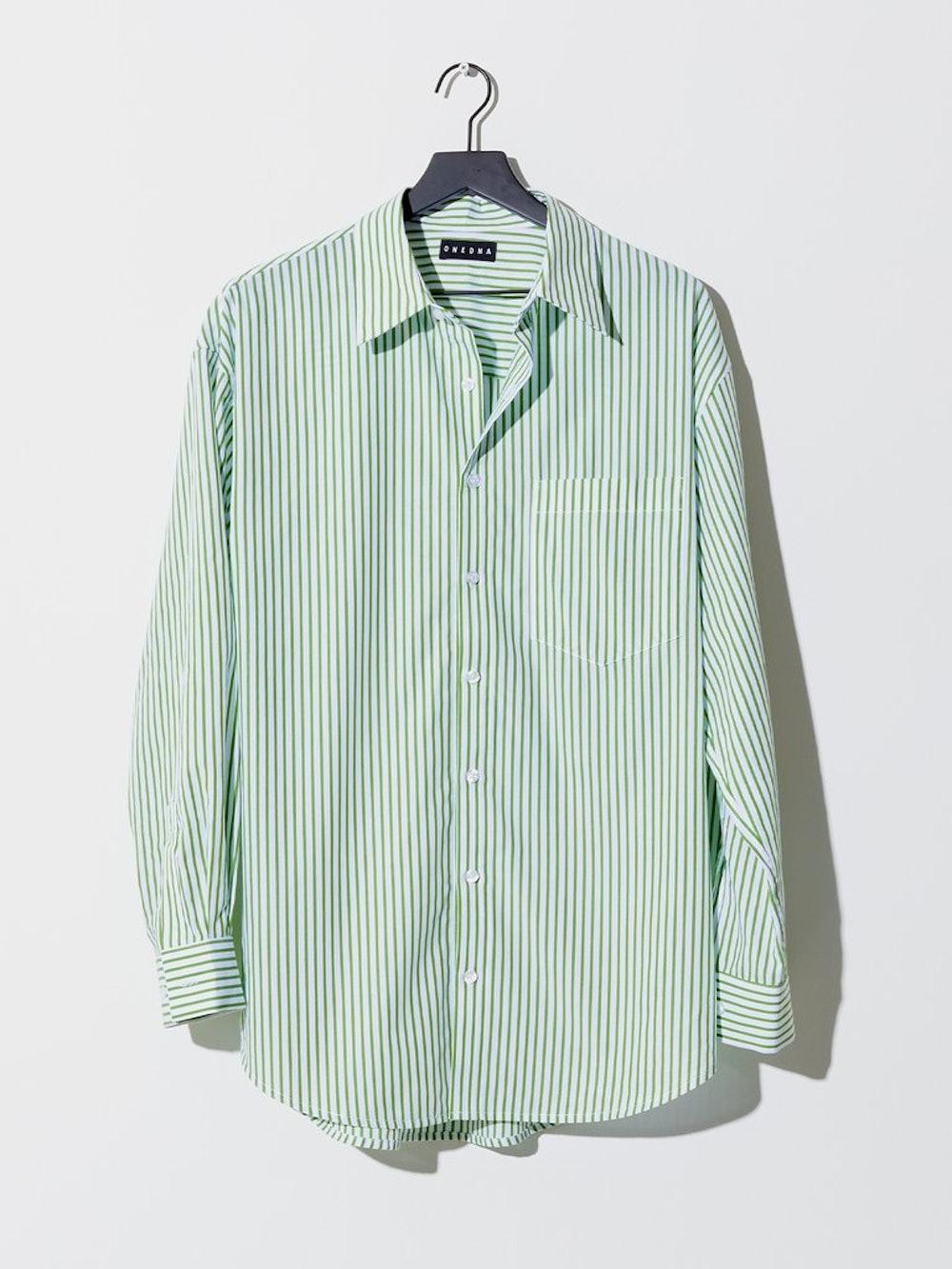 Resort Shirt in Green Stripe
