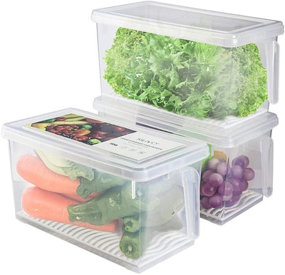 SILVIO Produce Saver Bins (3-Pack)