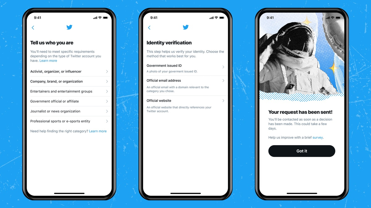 You can get verified on Twitter by filling out this public application.