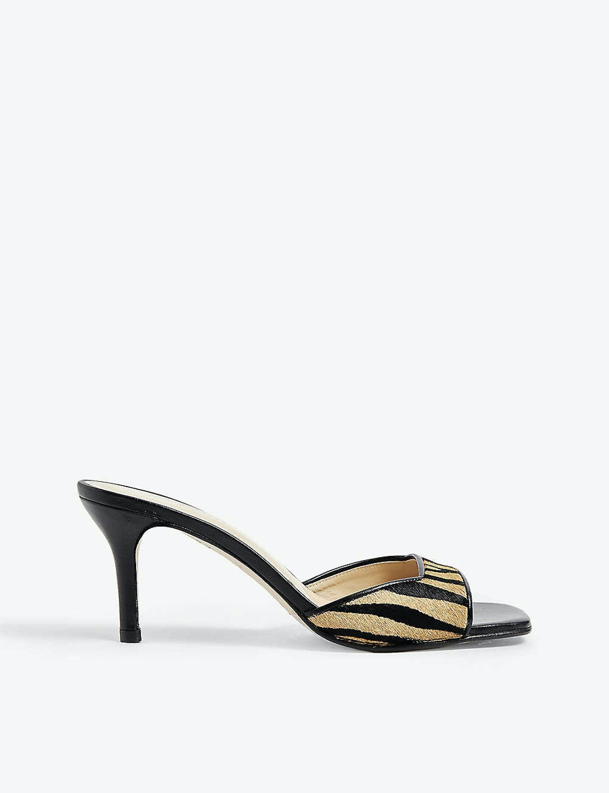 Lexie animal-print leather mules