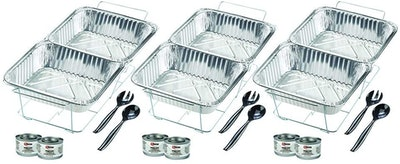 Sterno Disposable Party Set (8 Quarts, 6 Dishes)