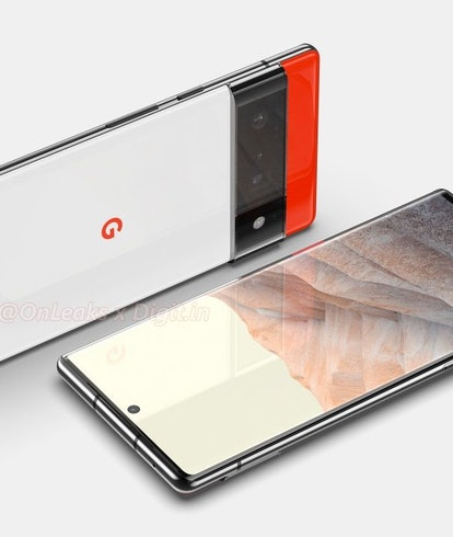 Renders made from leaks of Google's upcoming Pixel 6 phone. Mobile. Android. Smartphones.  Pixel 6 P...