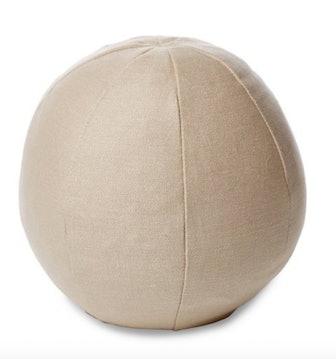 Emma 12x12 Ball Pillow, Dune Linen