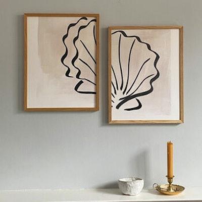 Scallop Shell Duo Print Set