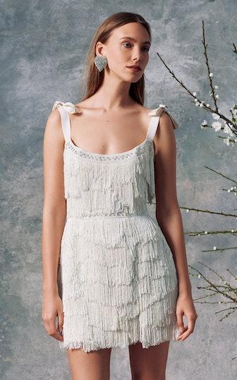 Diana White Fringe Mini Dress