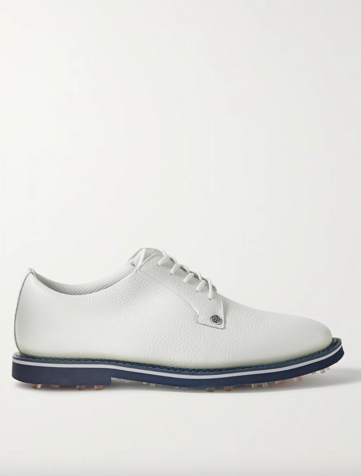 Gallivanter Pebble-Grain Leather Golf Shoes