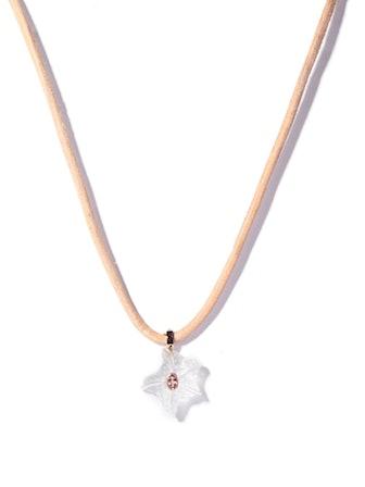 Quartz, Garnet & 18kt Rose-Gold Pendant Necklace