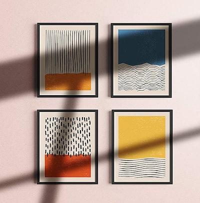 Haus and Hues Abstract Art Prints (Set of 4)