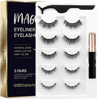 easbeauty Magnetic Eyelashes Kit (Set Of 5)