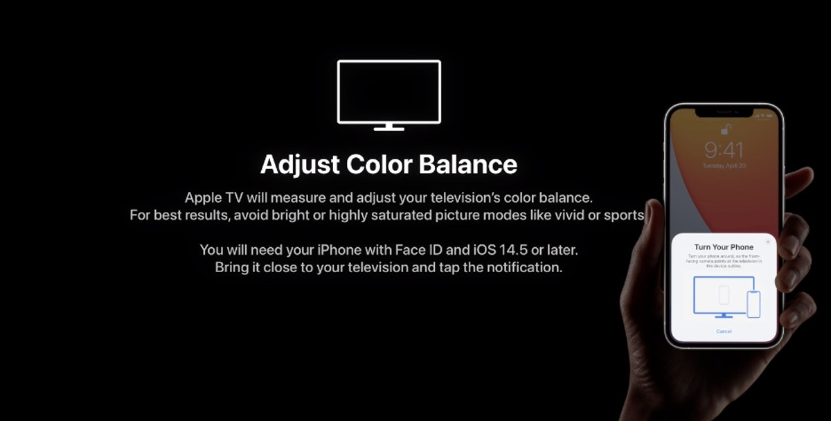 You can tweak the Apple TV 4K's color balance with a few steps.