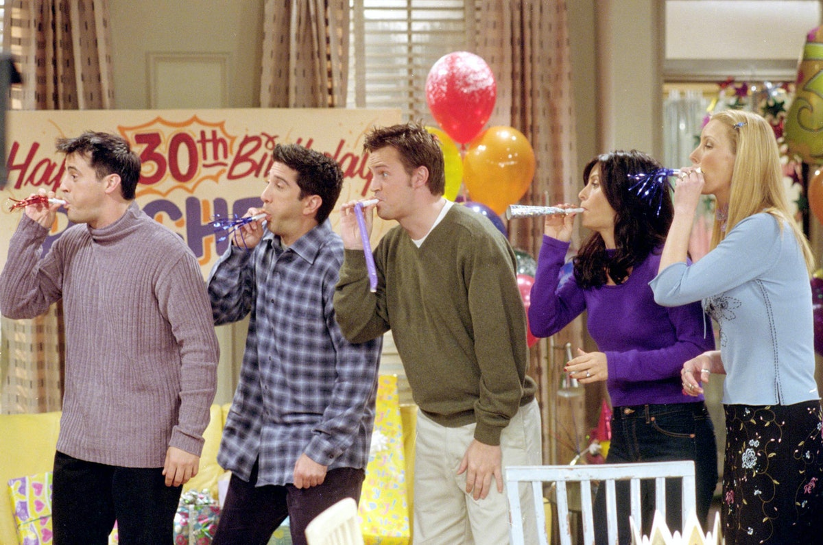 The 'Friends' cast blowing horns in celebration of all the experiences you can participate in ahead of the HBO Max reunion special.