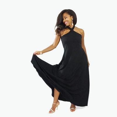 LaDiwithaBaBy, Black Halter Maternity Dress