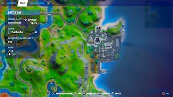 fortnite build sandcastle location 2 map