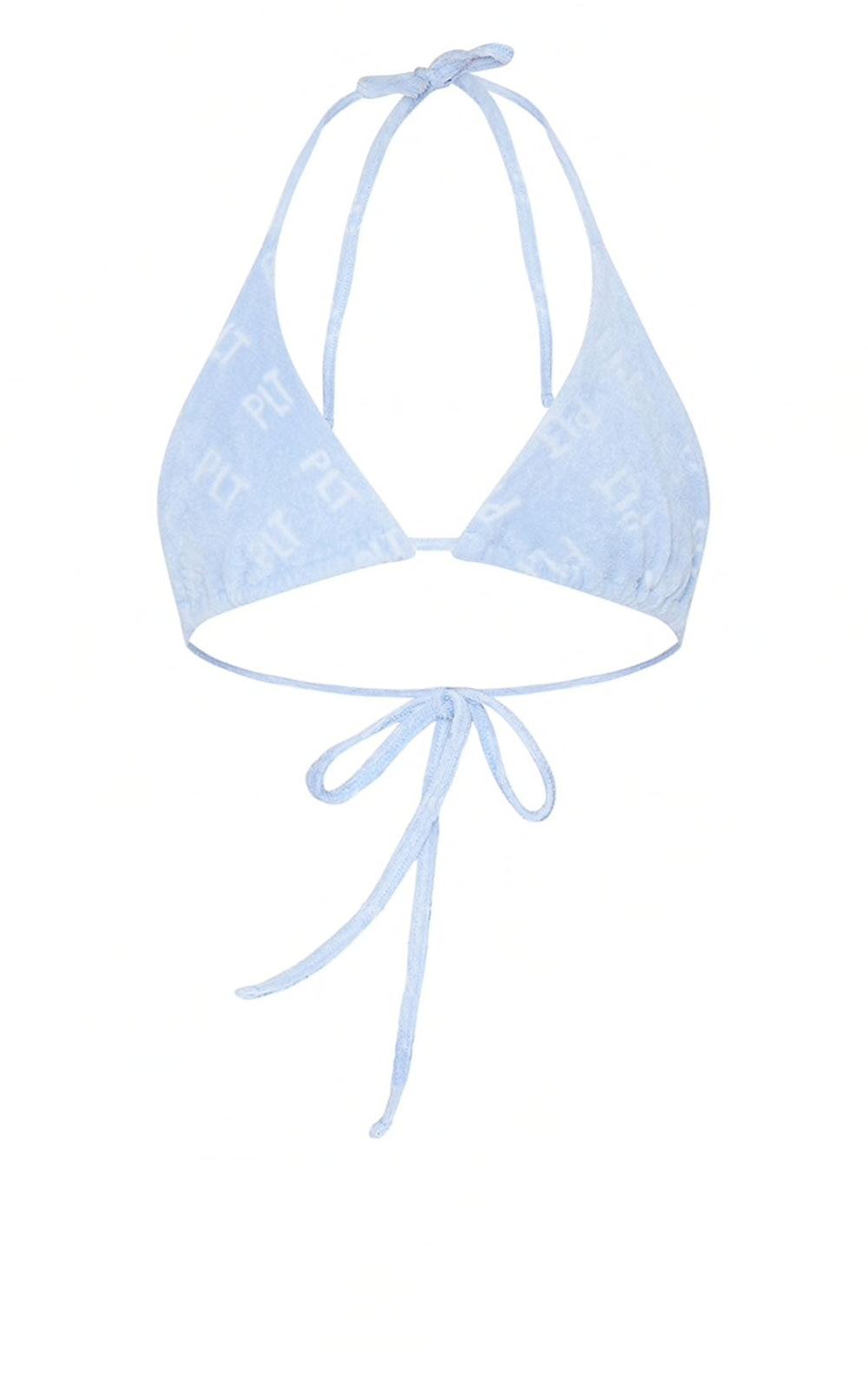 Embossed Towel Bikini Top