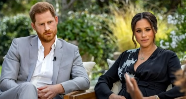 Meghan Markle wore a wrap dress in her interview with Oprah Winfrey.