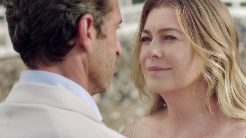 Patrick Dempsey & Ellen Pompeo as Derek & Meredith on 'Grey's Anatomy' Season 17 via ABC's press sit...