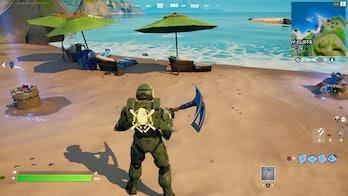 fortnite destroy sandcastle location 1 gameplay