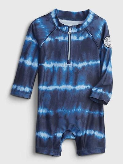 Baby Recycled Tie-Dye Print Shorty Swim One-Piece