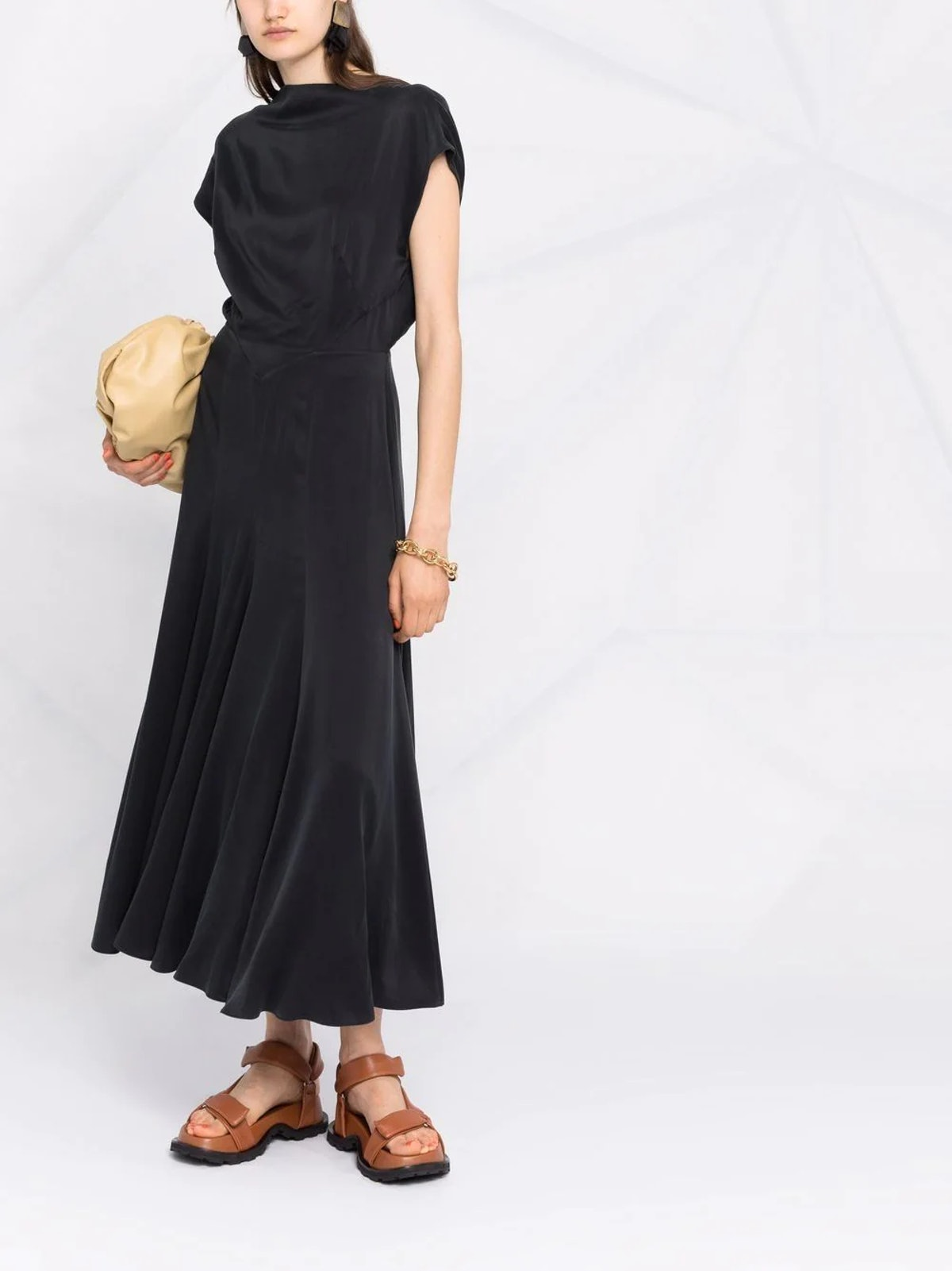 Merloe Sand-Washed Silk Dress
