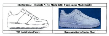 Nike Air Force 1 vs YUMS Sugar sneaker