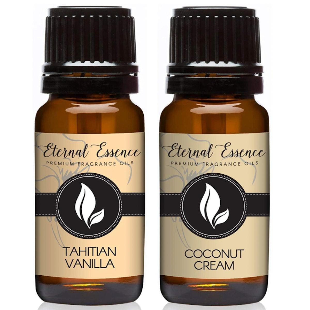 Eternal Essence Oils  Coconut Cream & Tahitian Vanilla Fragrance Oils, 10ml (Set of 2)