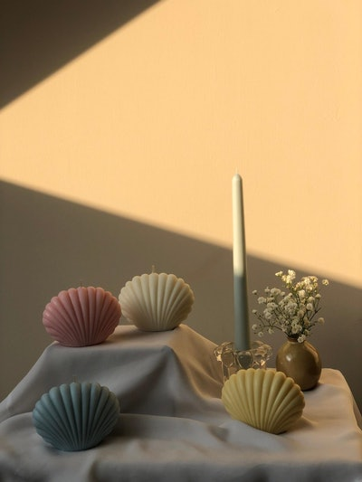 Interlude Candles Shell Scented Candle
