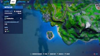 fortnite destroy sandcastle location 2 map