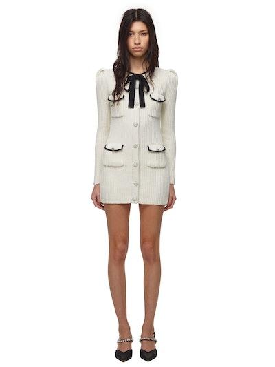Ivory Lurex Knit Dress