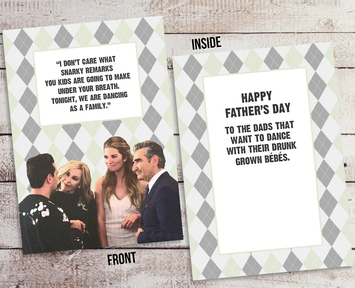 Schitt's Creek Father's Day Card | Family Dancing | Instant Download