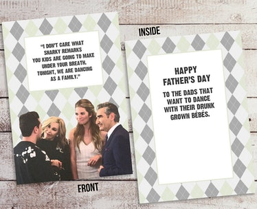 Schitt's Creek Father's Day Card   Family Dancing   Instant Download