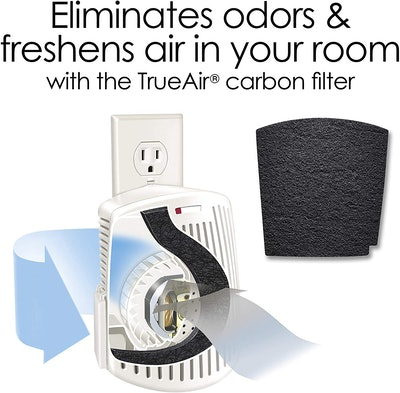 Hamilton Beach TrueAir Plug-Mount Odor Eliminator with Carbon Filter