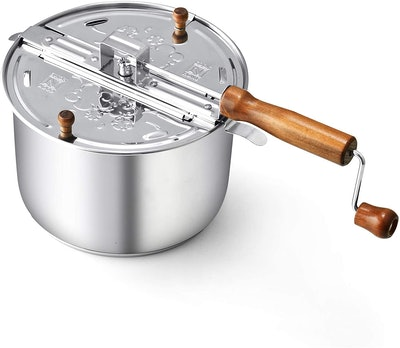 Cook N Home Stainless Steel Popcorn Popper
