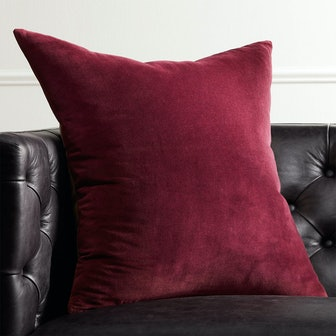 """23"""" Leisure Plum Pillow with Feather-Down Insert"""