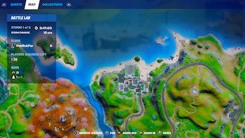 fortnite destroy sandcastle location 1 map